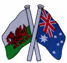 Wales & Australia Friendship Embroidered Patch A253